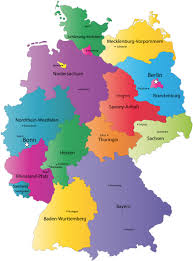 State Capitol Map by German States And State Capitals Map States Of Germany