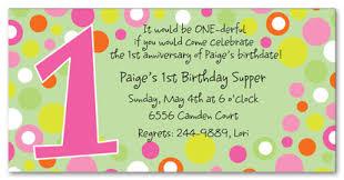1st birthday party invite wording cimvitation