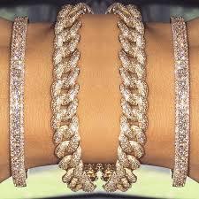 rose link bracelet images 14k rose gold diamond pave chain link bracelet jpg