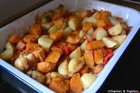 comment cuisiner patate douce patates douces et pommes de terre rôties au four