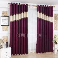 Blackout Purple Curtains Purple Color Thick Chenille Insulated And Thermal Blackout Curtain