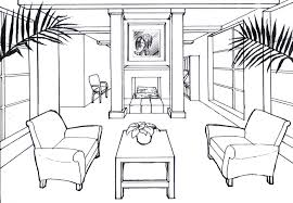 draw a room perspective colourmx drawn aerial perspective of living room gull