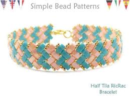 bracelet beads pattern images Bracelet beading tutorial pattern miyuki half tila beads etsy jpg
