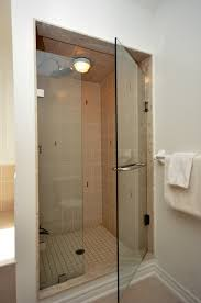 glass shower sliding doors bathroom entrancing ceiling shower lighting over small walk in