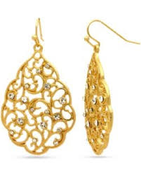 sensitive skin earrings 50 rogers gold gold tone sensitive skin scallop