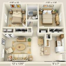 Best  One Bedroom Apartments Ideas On Pinterest One Bedroom - Interior design of house plans