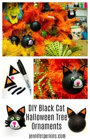 no halloween tree is complete without diy black cat ornaments