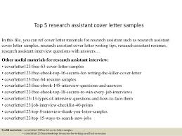 Research Assistant Resume Sample by Top 5 Research Assistant Cover Letter Samples 1 638 Jpg Cb U003d1434616304