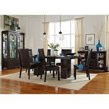dining room tables for 6 paragon table and 6 chairs merlot and brown value city