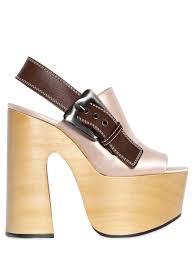 john rochas bags rochas 160mm satin u0026 leather platform sandals