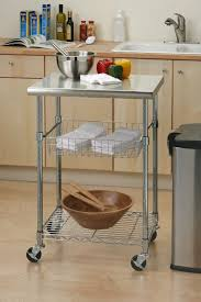 stainless steel kitchen cart rolling mobile food prep table island
