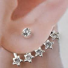 cuff earings 2017 ear cuff pentagram pandent wedding jewelry earring