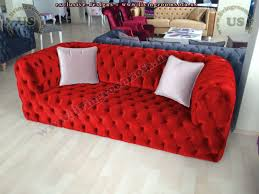 red velvet decorative chesterfield couch exclusive design ideas