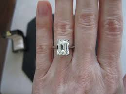 solitaire emerald cut engagement rings jared solitaire ring carat princess cut k white gold in