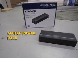 alpine power pack ktp 445u mini amplifier youtube