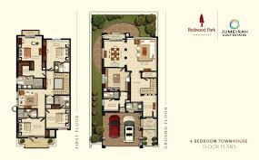 Town House Plans Redwood Park Floor Plans U2013 Jumeirah Golf Estates Townhouse Sale