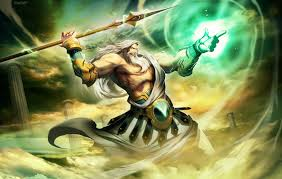 zeus jupiter greek god king of the gods and men greek