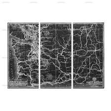 Washington Highway Map washington state highway map 1927 triptych u2014 oliver gal