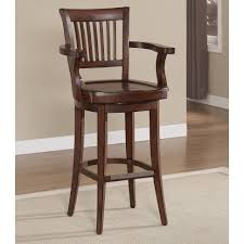 bar stools furniture brown high gloss finish oak wood bar stool