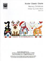 meowy christmas meowy christmas cross stitch pattern at gryphon s moon