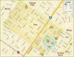 City Map Of New Orleans by New Orleans Treme Map