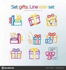 for the sales and discounts simple set of gifts vector