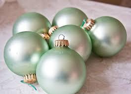 mint green ornament balls krebs vintage decoration made