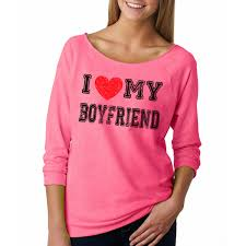 i love my boyfriend french terry 3 4 sleeve woman tee shirt t