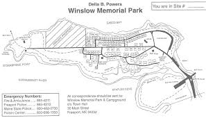 Map Of Maine Towns Freeport Maine Winslow Park And Campground