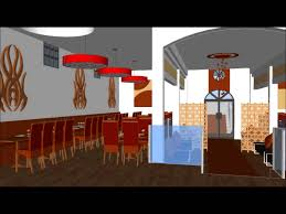 3d interior design of wedding hall and buffet restaurant youtube