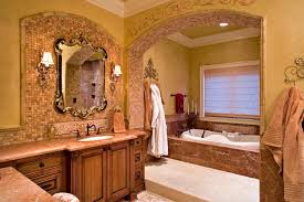 tuscan style bathroom ideas luxurious master bathroom design in the tuscan style from 1 of 30