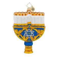 hanukkah ornaments christopher radko ornaments radko light the lights candle