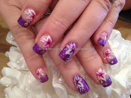 eye candy nails u0026 training purple glitter polish with pink and
