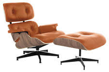 Tan Leather Accent Chair Eames Lounge Chair And Ottoman Ebay