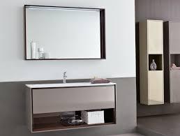 bathroom large bathroom mirror with shelf above single sink wall