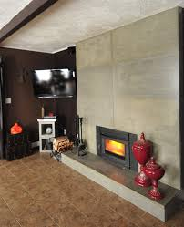 reface brick fireplace family room with cobble stone fireplace