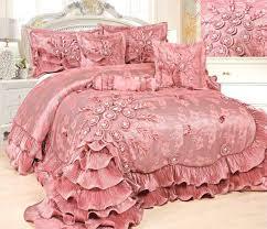 Queen Bedspreads Tache 6 Piece Faux Satin Pink Royal Dreams Comforter Set Queen