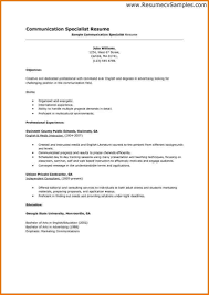 Resume Job Description Examples by Resume For Communications Job Free Resume Example And Writing