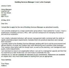 building services manager cover letter example for martin