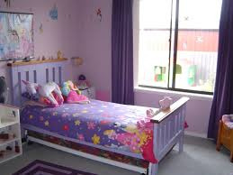 teenage bedroom colors with plain purple sheer curtain and pink