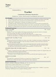 Resume For Computer Science Teacher Middle Science Teacher Resume Best Resume Collection