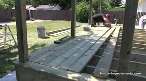 How To Build A Floor For A House How To Build A Deck 3 Decking Posts Border Decking Youtube