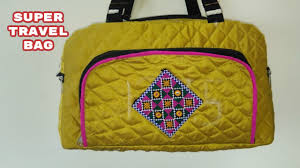 super travel bag make at home diy youtube