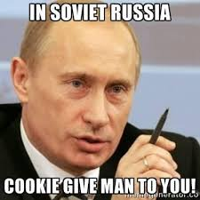 Axe Meme - luxury guy with axe meme in soviet russia cookie give man to you