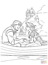 tangled coloring page free printable disney princess tangled