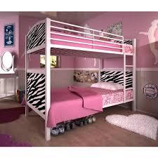 Dorel White Metal Twin Bunk Bed Zebra Walmartcom - Walmart bunk bed