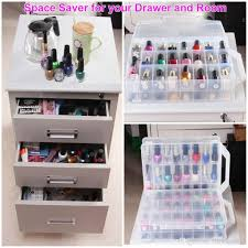 2017 universal nail polish storage case for 48 polish bottles with