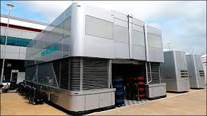f1 motorhome f1 test gate whispers remain as mercedes speeds ahead