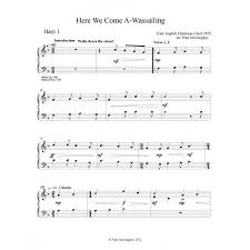 pdf here we come a wassailing melody u0027s traditional music