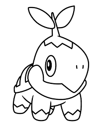 turtwig coloring page coloring home